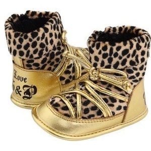 Baby Juicy Couture cheetah boots